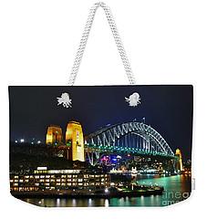 Colorful Sydney Harbour Bridge By Night Weekender Tote Bag