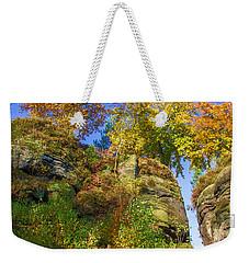 Colorful Trees In The Elbe Sandstone Mountains Weekender Tote Bag