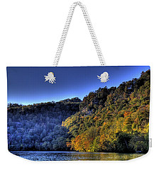 Weekender Tote Bag featuring the photograph Colorful Trees Over A Lake by Jonny D