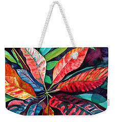 Colorful Tropical Leaves 2 Weekender Tote Bag