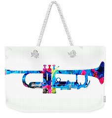 Colorful Trumpet 2 Art By Sharon Cummings Weekender Tote Bag by Sharon Cummings