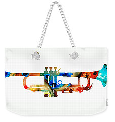 Colorful Trumpet Art By Sharon Cummings Weekender Tote Bag by Sharon Cummings
