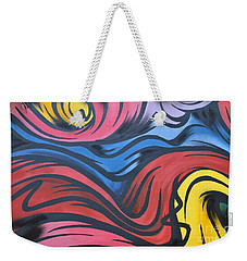 Weekender Tote Bag featuring the photograph Colorful Urban Street Art From Singapore by Imran Ahmed