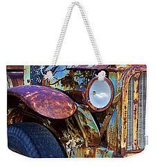 Colorful Vintage Car Weekender Tote Bag by Phyllis Denton