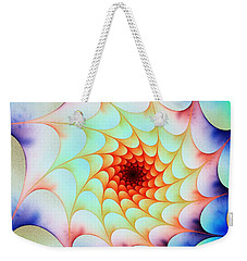 Weekender Tote Bag featuring the digital art Colorful Web by Anastasiya Malakhova