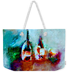 Weekender Tote Bag featuring the painting Colorful Wine Serenade by Lisa Kaiser