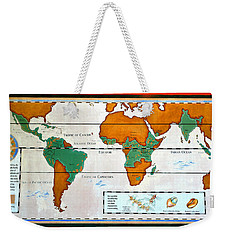 Colorful World Map Of Coffee Weekender Tote Bag by David Lee Thompson