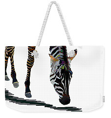 Colorful Zebra 2 Weekender Tote Bag by Teresa Zieba