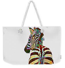 Colorful Zebra Weekender Tote Bag