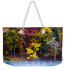 Colors In Early Morning Fog Weekender Tote Bag