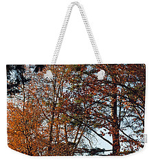 Weekender Tote Bag featuring the photograph Colors Of Autumn by Tikvah's Hope