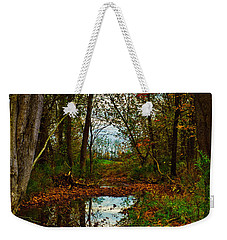 Weekender Tote Bag featuring the photograph Colors Of Fall by Kristi Swift