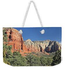 Weekender Tote Bag featuring the photograph Colors Of Sedona by Penny Meyers
