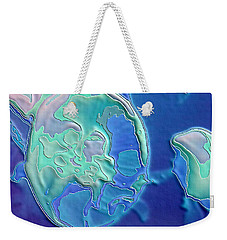 Weekender Tote Bag featuring the photograph Colors Of The Sea 2 by Nadalyn Larsen