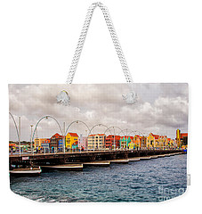Colors Of Willemstad Curacao And The Foot Bridge To The City Weekender Tote Bag