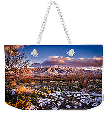 Colors Of Winter Weekender Tote Bag