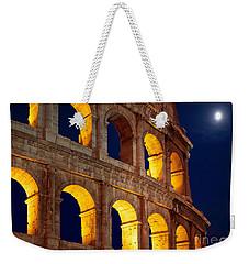 Colosseum And Moon Weekender Tote Bag