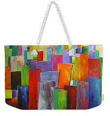 Colour Block 3 Painting Weekender Tote Bag