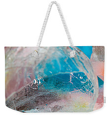 Coloured Ice Creation Print #4 Weekender Tote Bag by Nina Silver