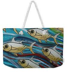 Coloured Water Fish Weekender Tote Bag