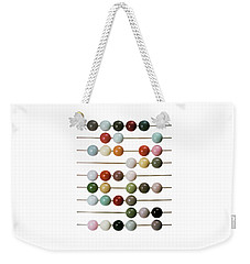 Colourful Beads On Metal Rods Weekender Tote Bag