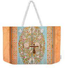 Colourful Moroccan Entrance Door Sale Rabat Morocco Weekender Tote Bag by Ralph A  Ledergerber-Photography