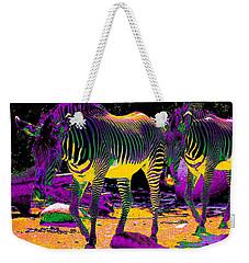 Colourful Zebras  Weekender Tote Bag