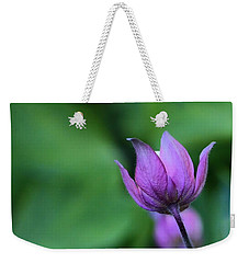 Columbine Flower Bud Weekender Tote Bag by Kathy Eickenberg