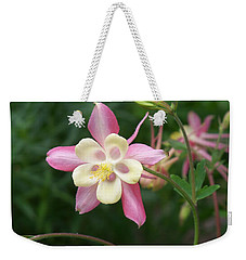 Weekender Tote Bag featuring the photograph Columbine by Kathryn Meyer