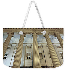 Weekender Tote Bag featuring the photograph Columns Of History by Suzanne Stout