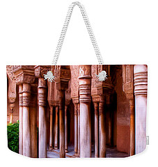 Columns Of The Court Of The Lions - Painting Weekender Tote Bag