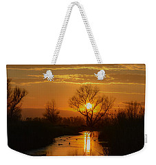 Colusa Wildlife Refuge Sunset Weekender Tote Bag