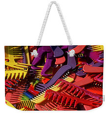 Weekender Tote Bag featuring the photograph Combs by Rodney Lee Williams