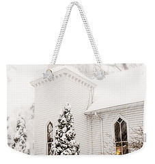 Weekender Tote Bag featuring the photograph White Christmas In Maryland Usa by Vizual Studio
