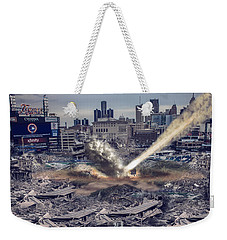 Weekender Tote Bag featuring the photograph Comerica Park Asteroid by Nicholas  Grunas