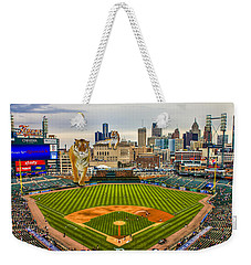 Weekender Tote Bag featuring the photograph Comerica Park Detroit Mi With The Tigers by Nicholas  Grunas