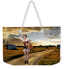 Weekender Tote Bag featuring the photograph Coming Home by Ester  Rogers