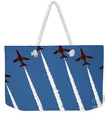 Weekender Tote Bag featuring the photograph Coming To  Land by Tracey Williams