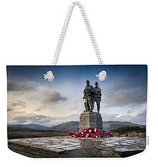 Commando Memorial At Spean Bridge Weekender Tote Bag by Gary Eason