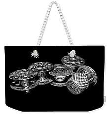 Commercial Vintage Bobbins On Black Weekender Tote Bag