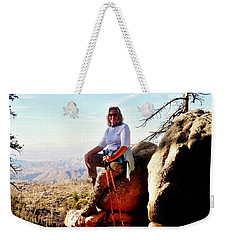 Weekender Tote Bag featuring the photograph Commission Free - Crickets by Benjamin Yeager