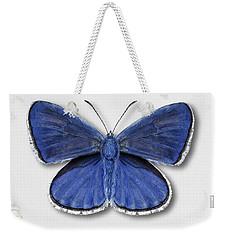 Common Blue Butterfly - Polyommatus Icarus Butterfly Naturalistic Painting - Nettersheim Eifel Weekender Tote Bag