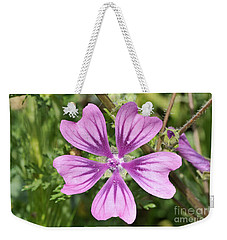 Common Mallow Flower Weekender Tote Bag by George Atsametakis