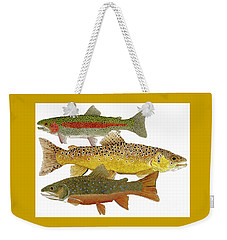 Common Trout  Rainbow Brown And Brook Weekender Tote Bag