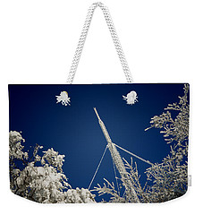 Communication Pole Covered With Snow In A Sunny Winter Day Weekender Tote Bag