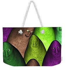 Weekender Tote Bag featuring the digital art Community 2 by Gabiw Art