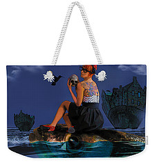 Weekender Tote Bag featuring the digital art Commute by Galen Valle