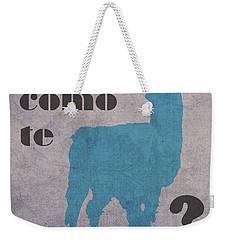Como Te Llamas Humor Pun Poster Art Weekender Tote Bag