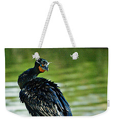 Weekender Tote Bag featuring the photograph Comorant 6  Wilderness Lakes by Bob and Nadine Johnston