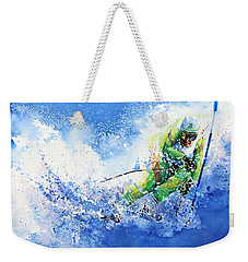 Weekender Tote Bag featuring the painting Competitive Edge by Hanne Lore Koehler